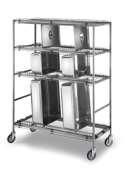 pots and pans-draining trolley