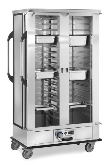 trolley for trays/containers/pans heated version