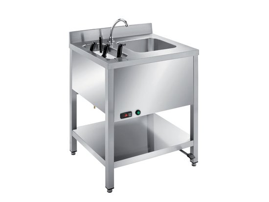 handwashing sink with knives sterilizer