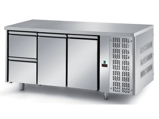 refrigerated ventilated tables with motor, 2 doors and 2 drawers mod. fgm2