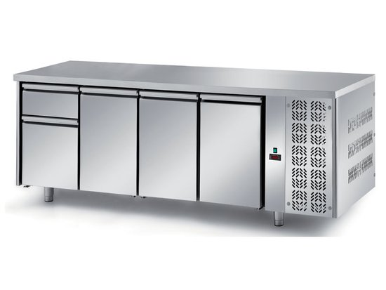 refrigerated ventilated tables with motor, 3 doors and 2 drawers mod. fgn7