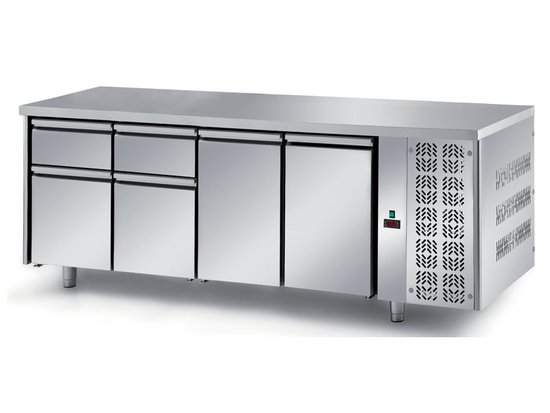 refrigerated ventilated tables with motor, 2 doors and 4 drawers mod. fgn8