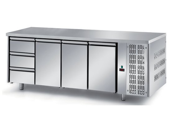refrigerated ventilated tables with motor, 3 doors and 3 drawers mod. fgn9