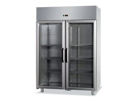 refrigerated ventilated cabinets with 2 glass doors -2°/10°c