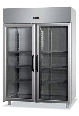 refrigerated ventilated cabinets with 2 glass doors -10°/-20°c