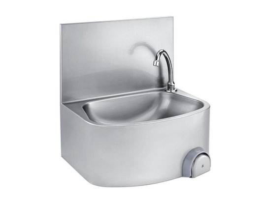 WALL HANDWASHING SINK WITH BACK AND KNEE CONTROL