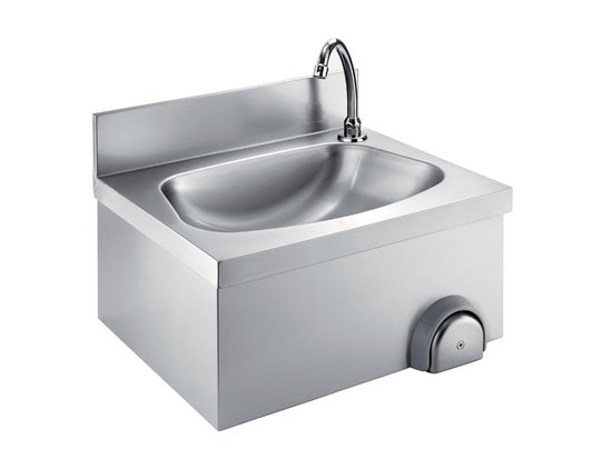 wall handwashing sink with knee control