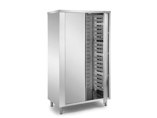 neautral pans rack cabinets with 2 doors