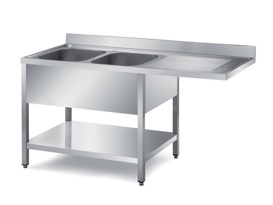 overshanging sinks with undershelf for dishwasher installation depth 600