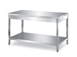 tables on legs with undershelf