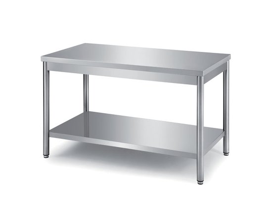 tables on round legs with undershelf