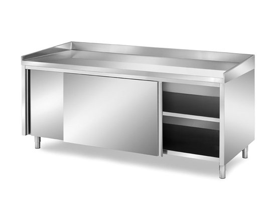 Stainless Steel Top And Sliding Doors